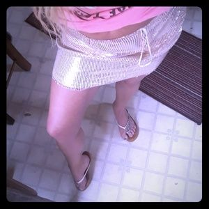Beautiful pretty little things skirt new rose gold